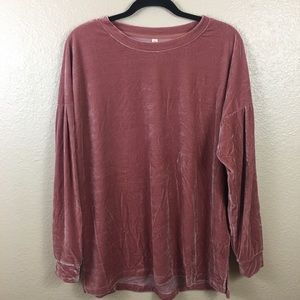 Wishlist pink crushed velvet top sz S/M